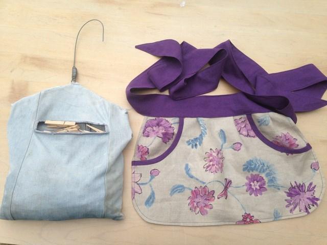 peg apron and peg bag