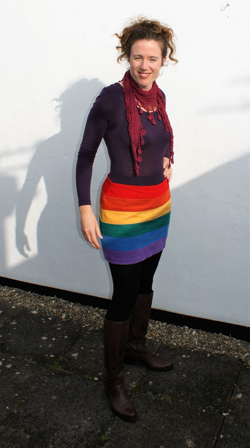 Happy New Year! And a rainbow mini skirt…