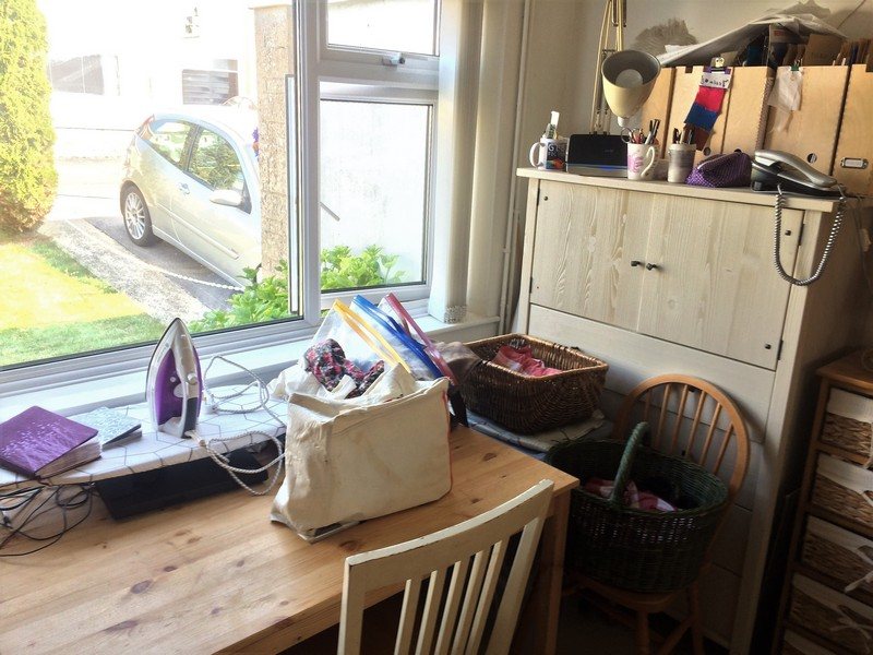 No space of my own! Sewing in a shared space.